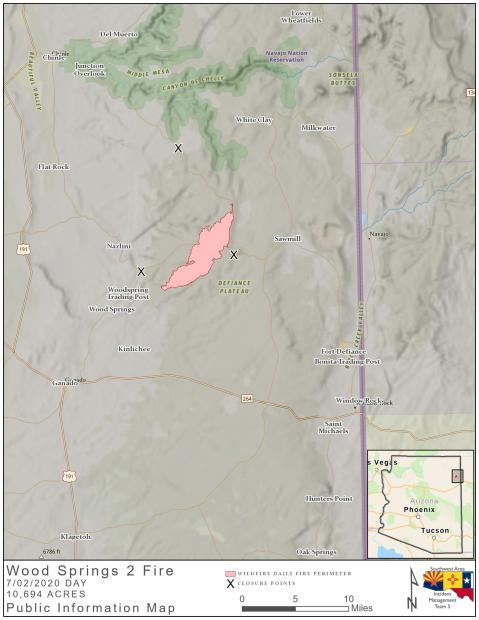 Wood Springs 2 Fire map 070220