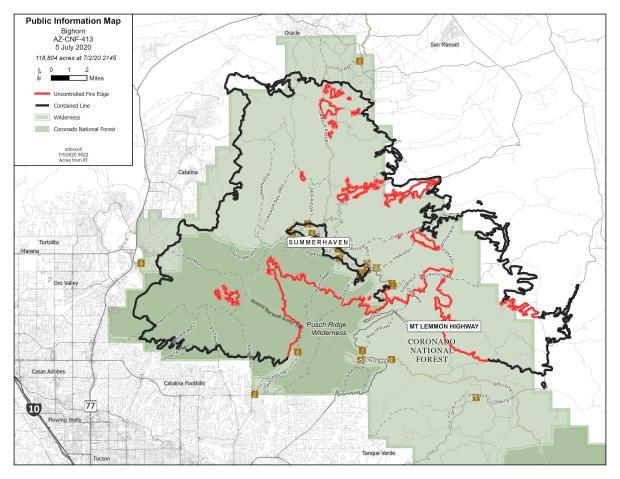 Bighorn Fire map 070520