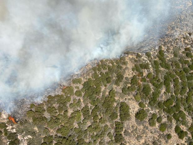 Tussock Fire photo along ridgeline
