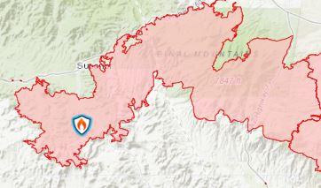 6-15-21 Telegraph Fire Map