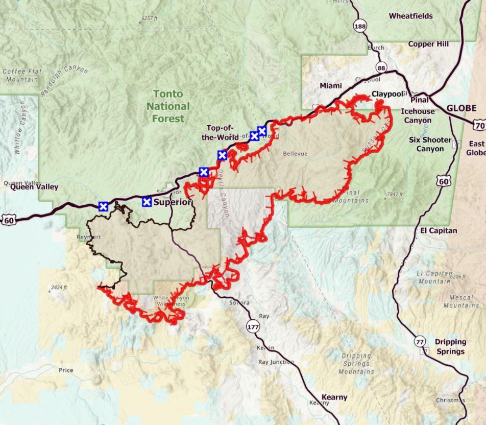 6-9-21 Telegraph Fire Map