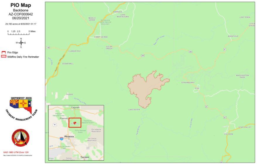 Backbone Fire Map 6-20-21