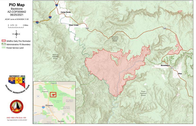 Backbone Fire Map 6-25-21