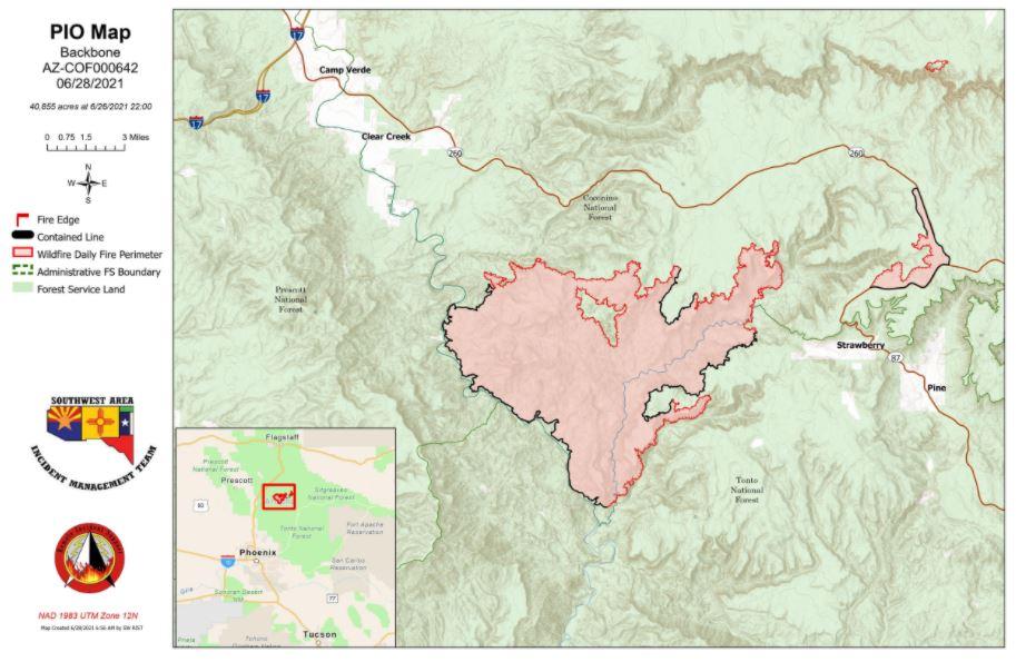 Backbone Fire Map 6-28-21