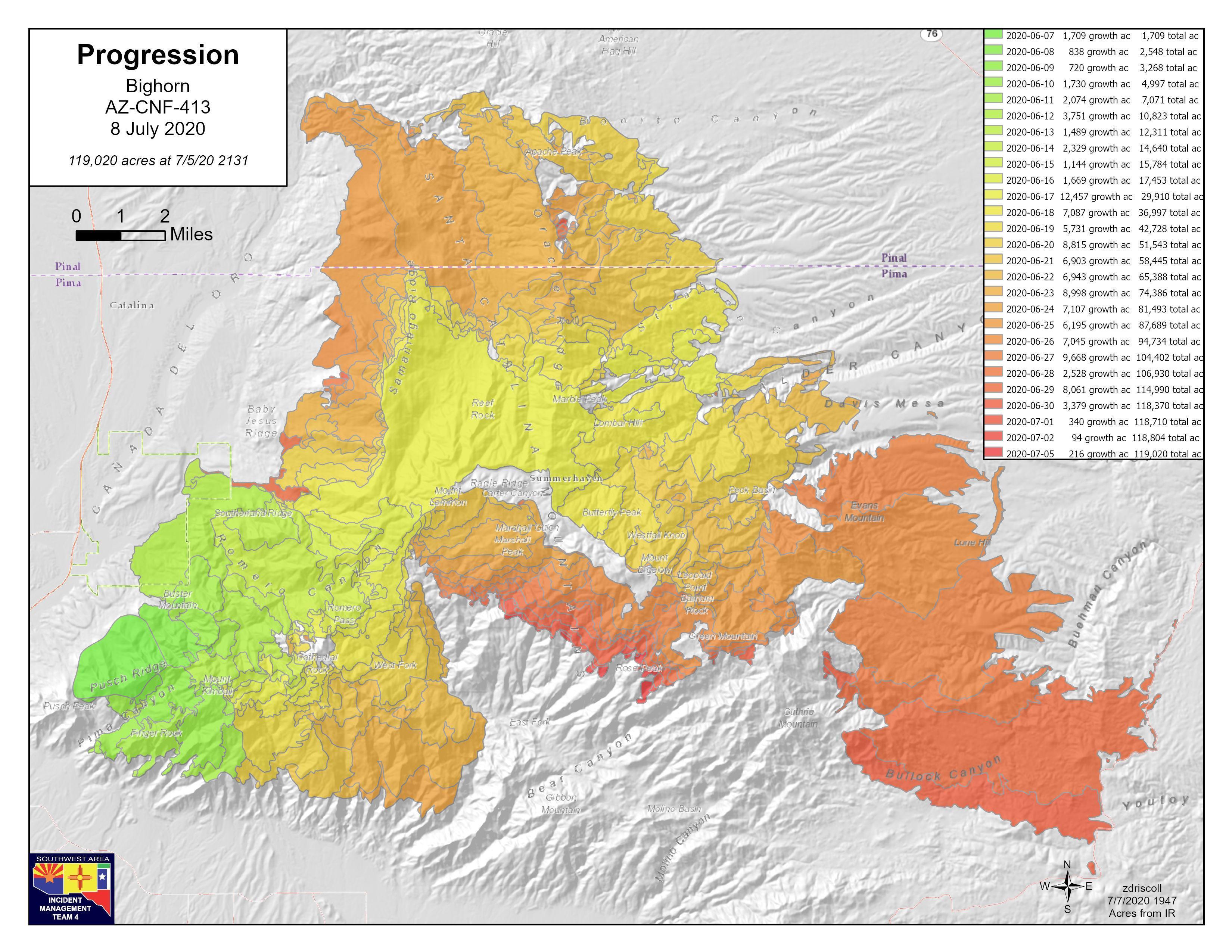 Bighorn Fire 7-8-20