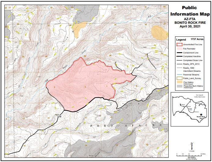 Bonito Rock Fire Map 4-30-21