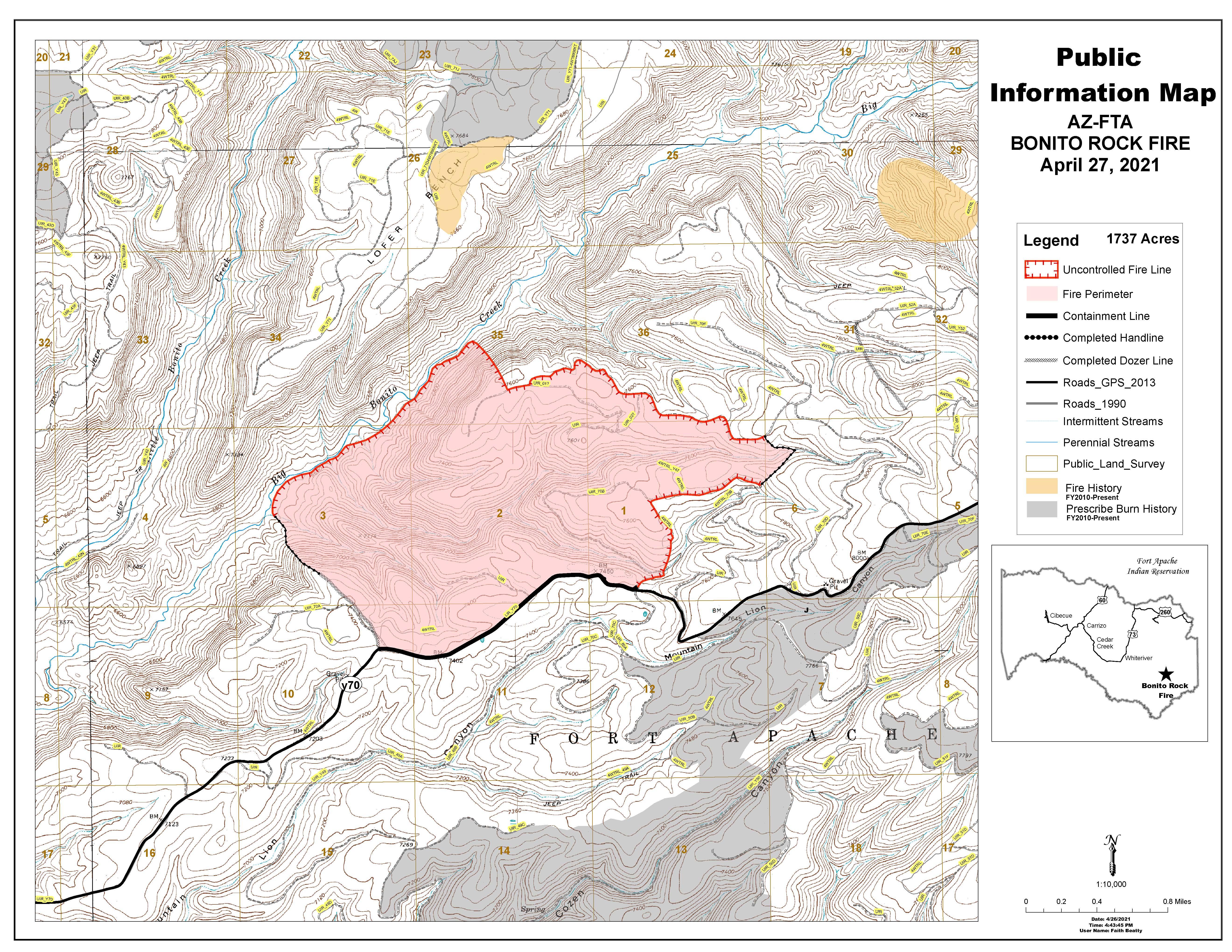 Bonito Rock Fire Map