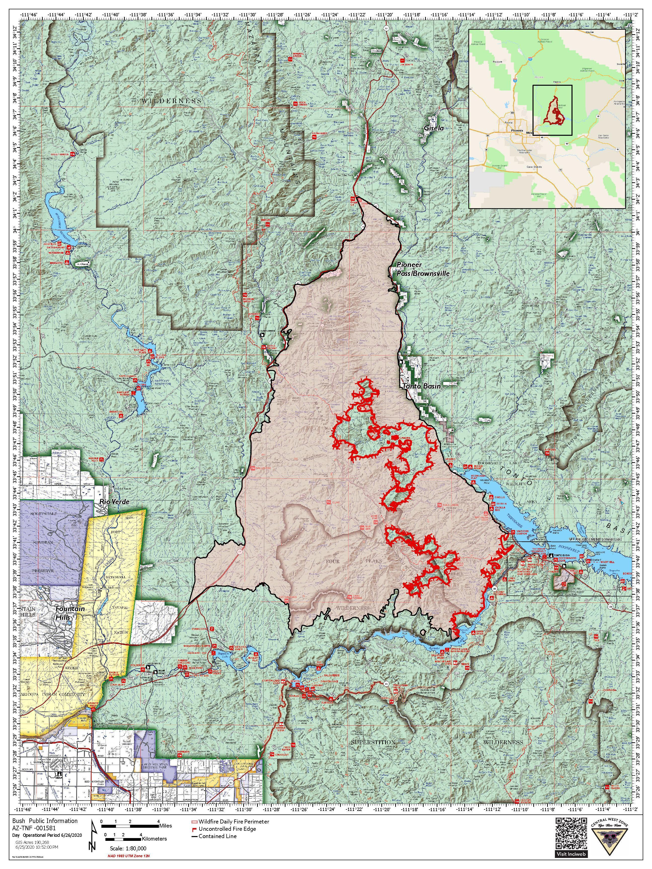 Bush Fire Map 6-27-20