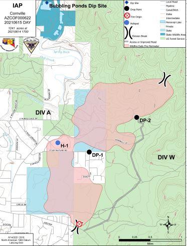 Cornville Fire Map 6-15-21