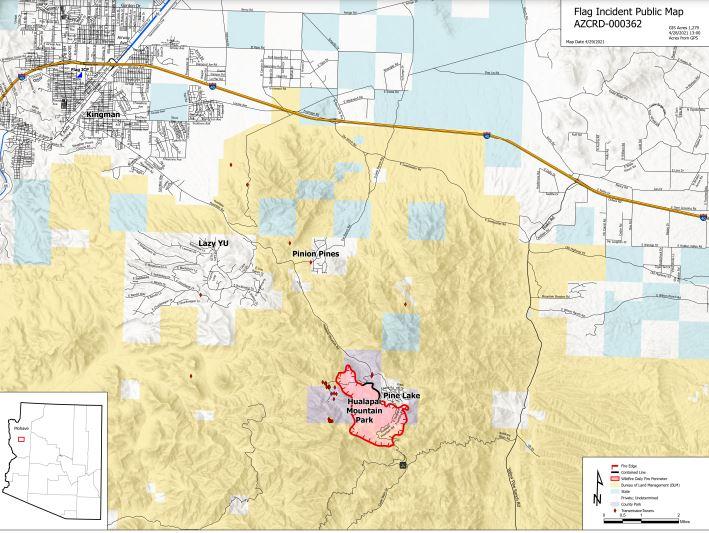 Flag Fire Map 4-29-21