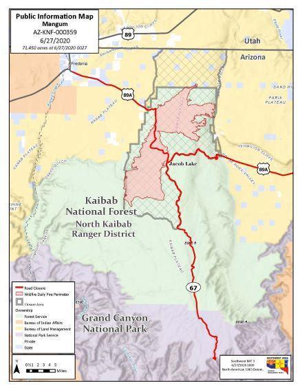 Mangum Fire Map 6-27-20