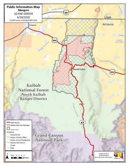 Mangum Fire Map 6-28-20