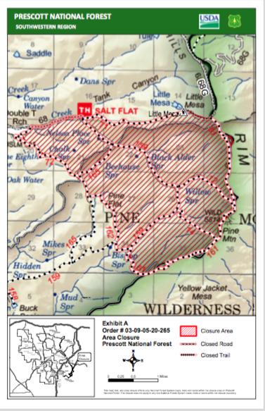 screen shot of pine fire map