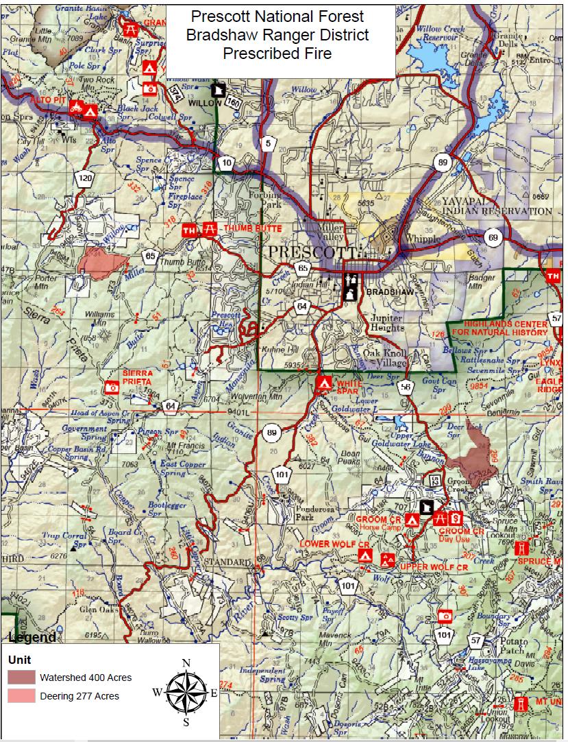 Prescott National Forest Bradshaw Ranger District Prescribed Fire