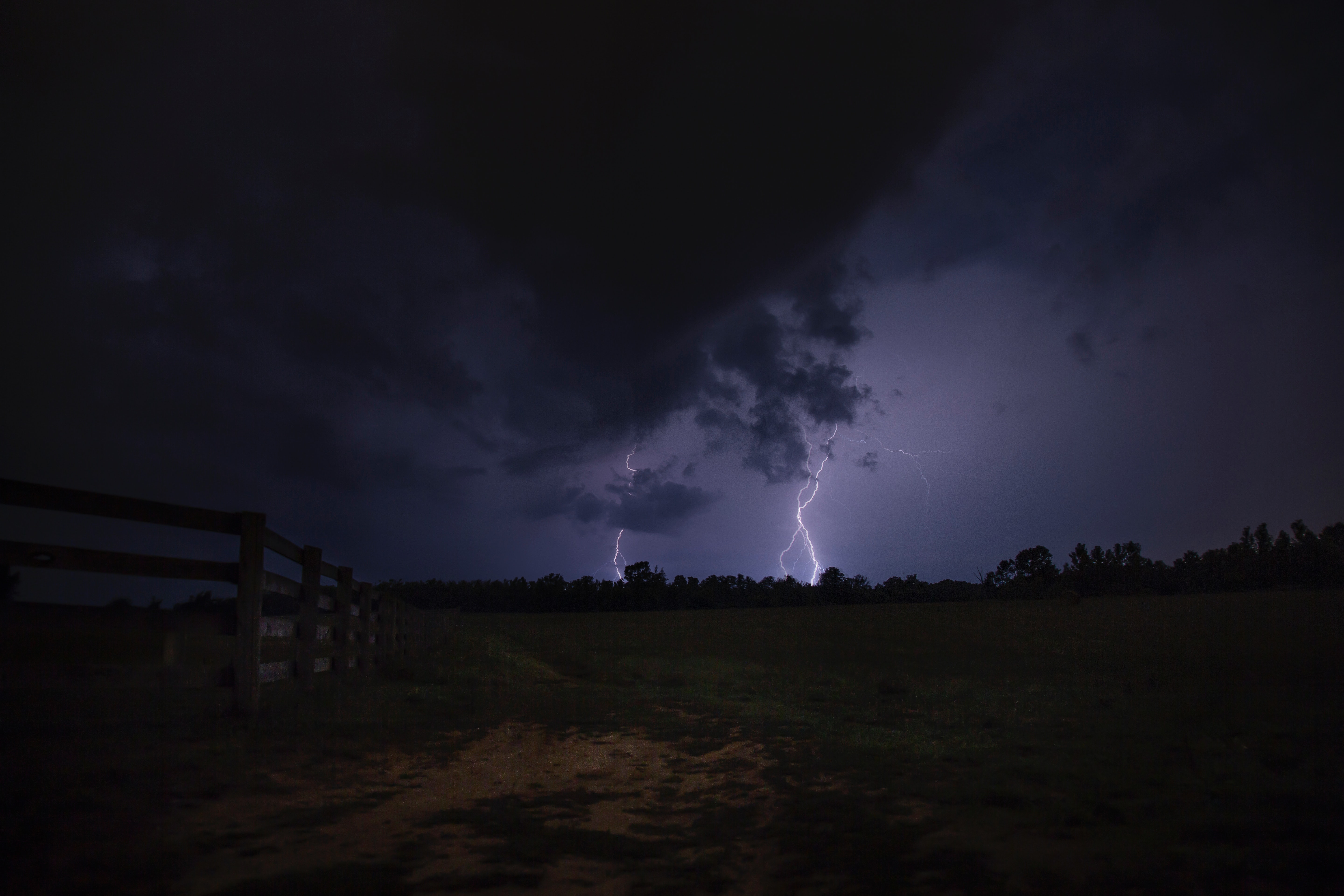 Lightning in the distance
