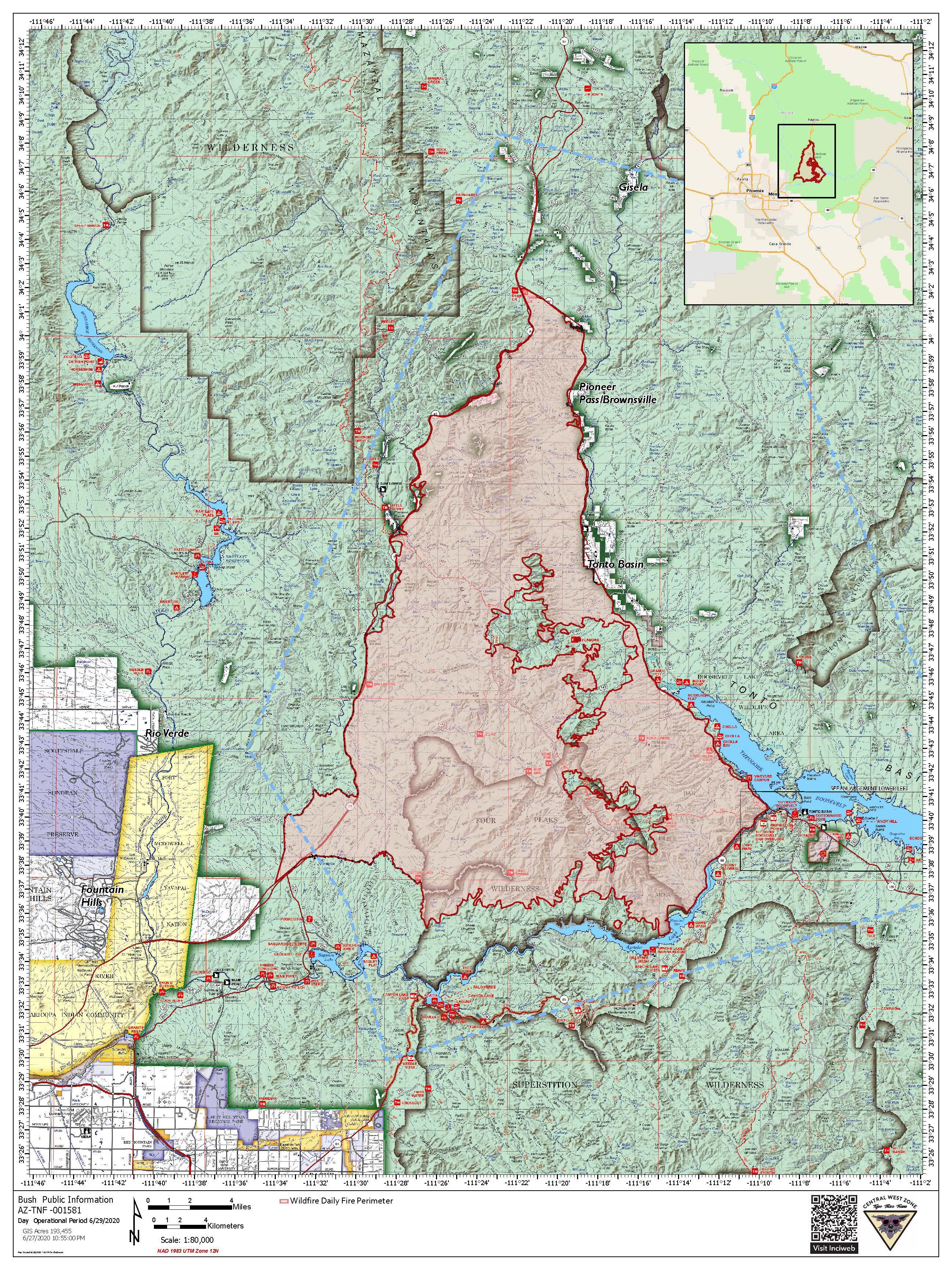 Bush Fire Map 6-29-20