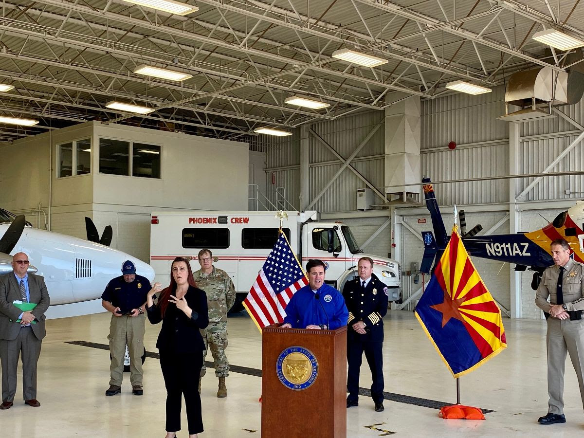 Gov. Doug Ducey and fire officials conduct pre-wildfire season news conference