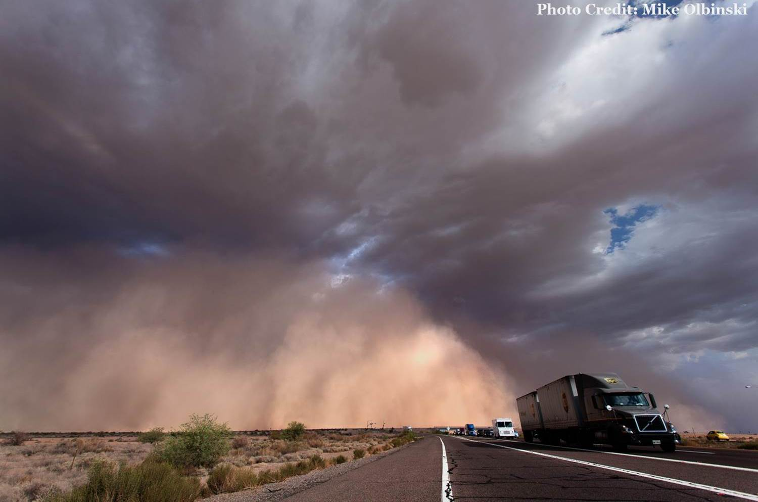 Interstate Dust Storm - Courtesy: Mike Olbinski