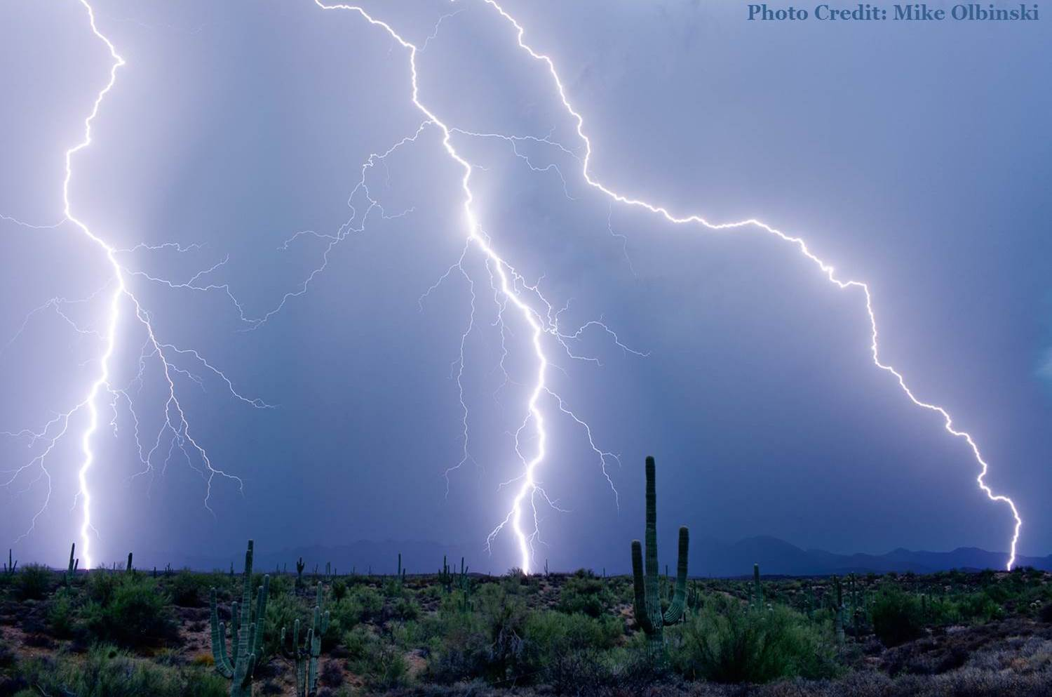 Desert Lightning - Credit: Mike Olbinski