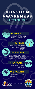 Icon size of the Monsoon Awareness graphic