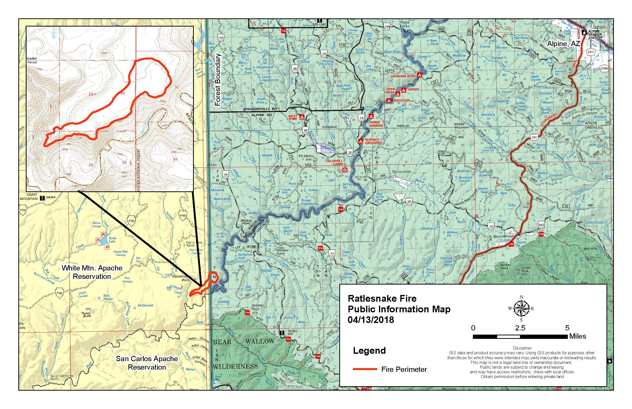 Rattlesnake Fire Public Information Map 4_13_18