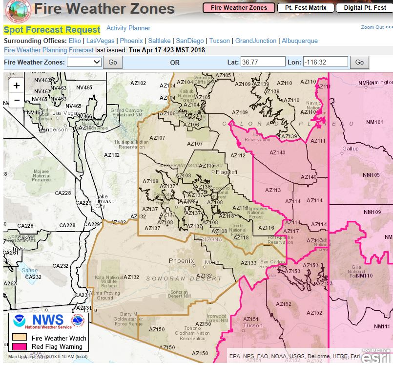 Red Flag Warning in effect April 17 for the eastern portion ...