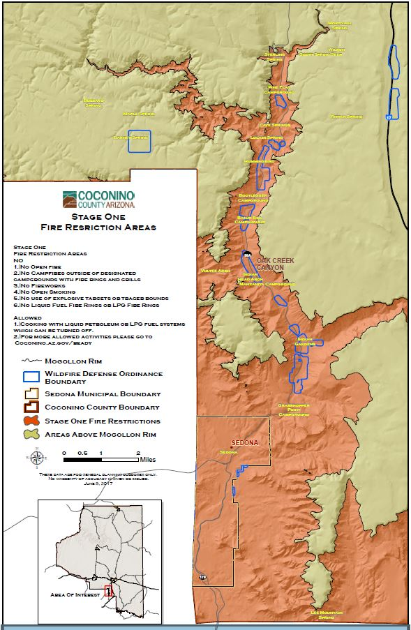 Coconino County Enacts Stage 1 Fire Restrictions Below The Mogollon